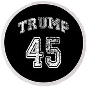 Trump 45 Round Beach Towel