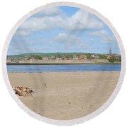 Tweed Estuary To Berwick-upon-tweed Medieval City Walls, Bridges Round Beach Towel