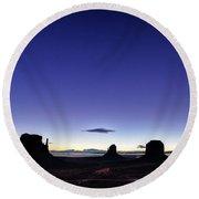 Twilight Approaches Round Beach Towel