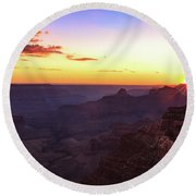 Twilight In The Canyon Round Beach Towel