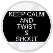 Twist And Shout V3 Round Beach Towel