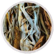 Twisted Tree Limbs Round Beach Towel