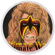 Ultimate Warrior Writing Version Round Beach Towel