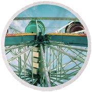 Under The Ferris Wheel Round Beach Towel
