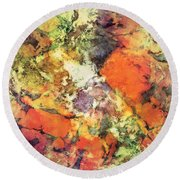 Under The Surface Round Beach Towel