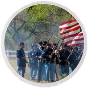 Union Infantry Advance Round Beach Towel