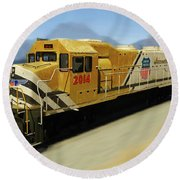 Union Pacific 2014 At Work Round Beach Towel
