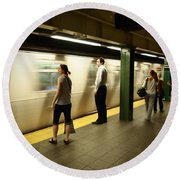 Union Square Station No.1 Round Beach Towel