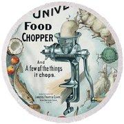 Universal Food Chopper No. 2  1899 Round Beach Towel