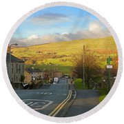 Upper Wensleydale From Hawes Yorkshire Dales National Park Round Beach Towel