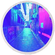 Urban Neon Round Beach Towel