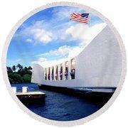 Uss Arizona Memorial Round Beach Towel