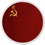 Ussr Flag Round Beach Towel