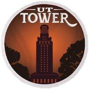 Ut Tower Round Beach Towel
