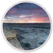 Utah Desert Sunrise Round Beach Towel