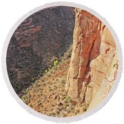 Valley Colorado National Monument 2884 Round Beach Towel