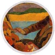 Van Gogh Painting Sunflowers 1888 Round Beach Towel