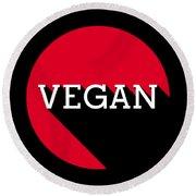 Vegan Statement Logo  Round Beach Towel