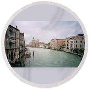 Venice Grand Canal Round Beach Towel