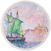 Venice, The Pink Cloud - Digital Remastered Edition Round Beach Towel