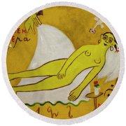 Venus Round Beach Towel