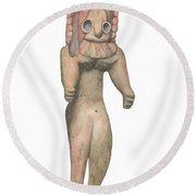 Venus Of The Indus Valley Round Beach Towel