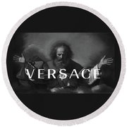 Versace-3 Round Beach Towel