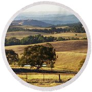 Victoria Countryside Layers Round Beach Towel