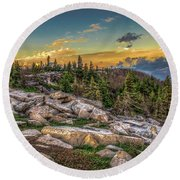 View From Dolly Sods 4714 Round Beach Towel by Donald Brown
