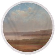 View Of Lake Pepin, Minnesota, 1862 Round Beach Towel