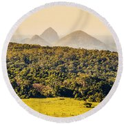 View To The Sunshine Coast Round Beach Towel