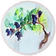Vine And Branch Round Beach Towel