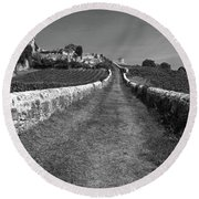 Vineyard In Saint-emilion Round Beach Towel