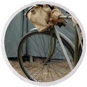 Vintage Bicycle World War II  Round Beach Towel