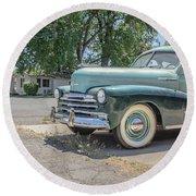 Vintage Car Chevy Fleetmaster Round Beach Towel