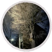 If Trees Could Talk Round Beach Towel