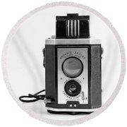 Vintage Eastman Kodak Brownie Reflex Synchro Model Film Camera Round Beach Towel