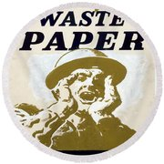 Vintage Poster - I Need Your Waste Paper Round Beach Towel