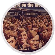 Vintage Poster - Is Your Trip Necessary? Round Beach Towel