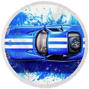 Viper Trails Round Beach Towel