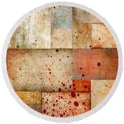 Visceral Round Beach Towel