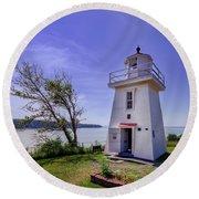 Walton Lighthouse Round Beach Towel
