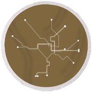 Washington, D.c. Subway Map 2 Round Beach Towel