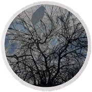 Wasteway Willow 04 Round Beach Towel