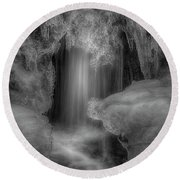 Water And Ice 9 Round Beach Towel