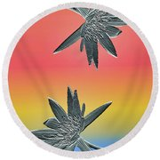 Water Lily Duo Two Round Beach Towel