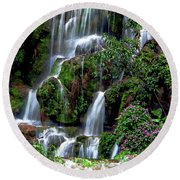 Waterfalls At Seven Star Park Round Beach Towel
