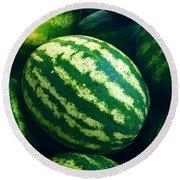 Watermelons Round Beach Towel