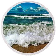 Wave Round Beach Towel