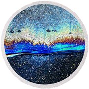 Waves Of Blue Round Beach Towel